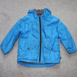 Baby Gap 3T Blue Jacket Fleece lined windbreaker